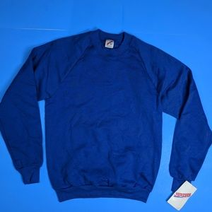 Vintage Blank Blue Sweatshirt 50/50 USA Made Med